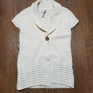 Fossil sweater medium cream one button